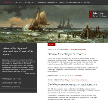Webdesign Hamburg Melbye-Art - Kunst Webssite